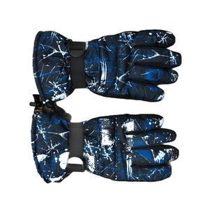 Other - EUC Men's blue white pattern winter snow gloves XL